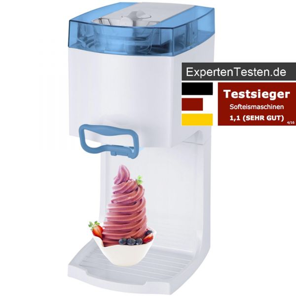 4in1 Softeismaschine Frozen Yogurt Maschine Eismaschine Flaschenkühler blau
